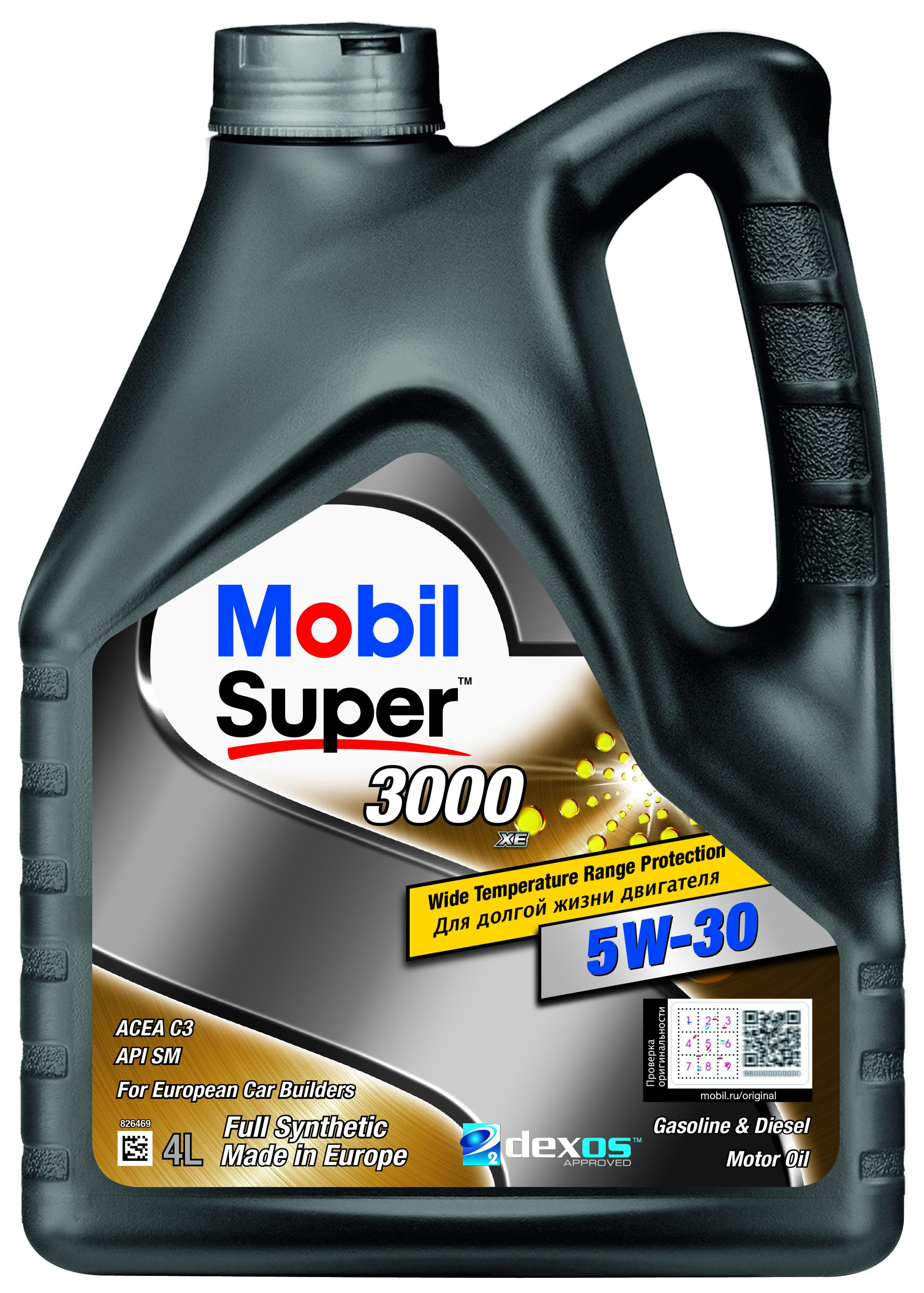 Моторное масло Mobil Super 3000 XE 5W-30 4l
